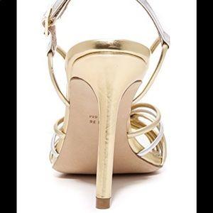 Diane von Furstenberg Metallic Milena Leather 37